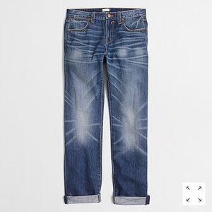 J. Crew. Field Wash Boyfriend Jeans. Size 27